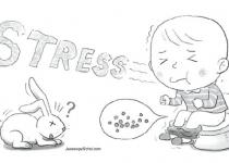 '토끼똥'누는 아이, 단체생활 스트레스 탓?