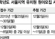 서울 공립·사립유치원 따로 원아모집