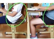 초등 저학년생에 웬 중학생용 의자?