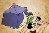 여름방학 정석, 콘도보다 텐트
