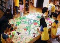 아이들이 만든 '기적의 꽃 평상'